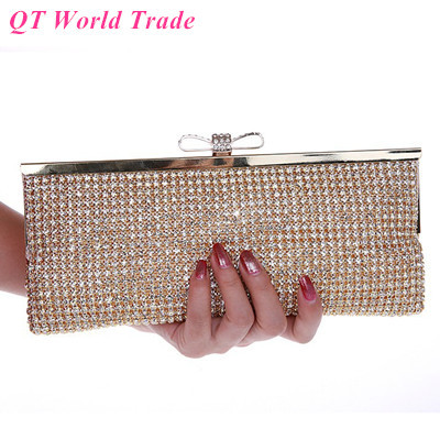 New Style Womens Luxury Party Handbags. Fashion Bling Full Diamond DIY Bride Wedding Clutch Purse. Banquet Evening Bags<br><br>Aliexpress
