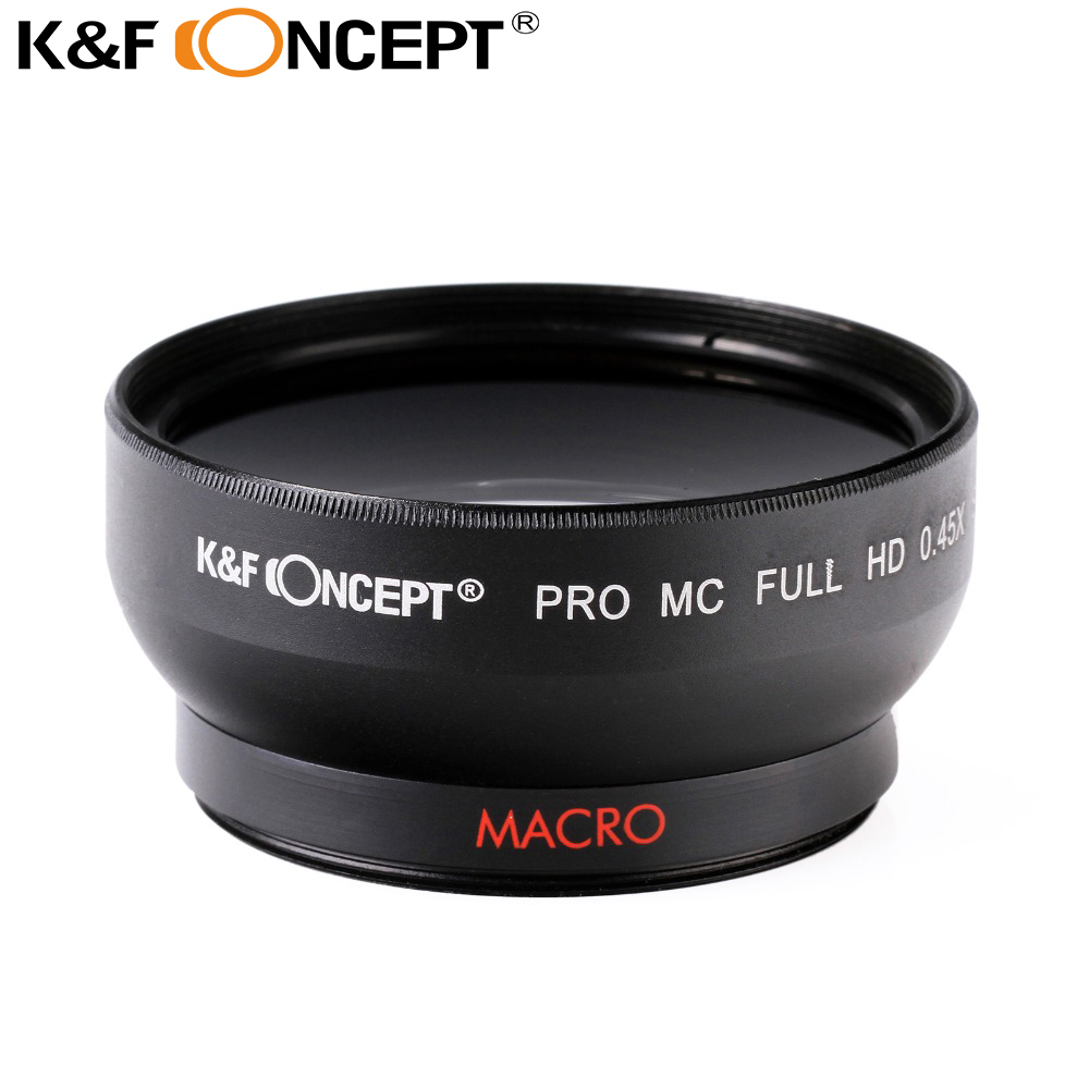 K&F CONCEPT 52mm 0.45X Digital HD Blue Film Coated Wide-angle Lens for Canon Rebel T3i for Nikon D7100 D5100 D3100 free shipping(China (Mainland))
