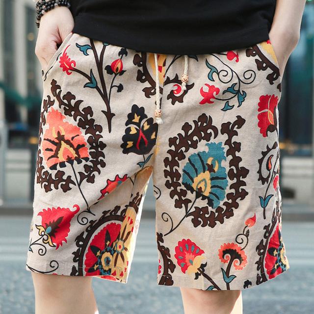 Мужчины и женщины могут носить цветочный белье шорты личности прилив летом 2016 мужская ...