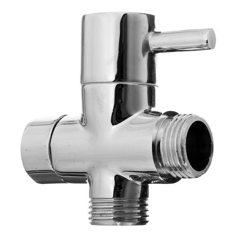"High-Grade Brass UK 1/2"" shattaf Diverter Toilet Bidet Diverter Valve Chrome Plated Bathroom Shower Faucet Accessories(China (Mainland))"