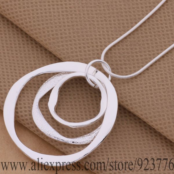 product AN200 925 sterling silver Necklace 925 silver fashion jewelry pendant Article 3 the circular strip /cqxaliea amkajdra