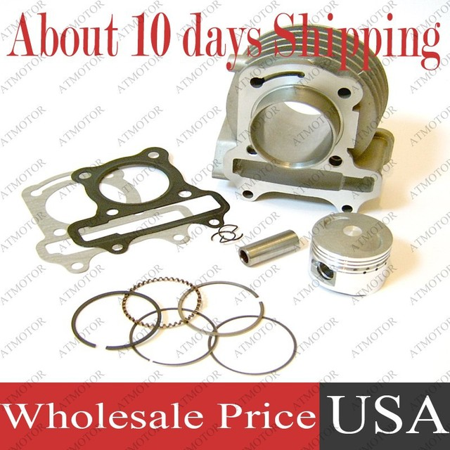 (6 sets a lot) Cylinder kit for GY6 72cc 80cc 47mm Big Bore Kit 139QMB/139QMA Engine Moped Scooter (Brand New)
