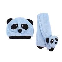 Новый унисекс 1-3г baby девочек мальчиков зимние шляпы Шарф + шапка шапка и шарф установить мультфильм панда Кап