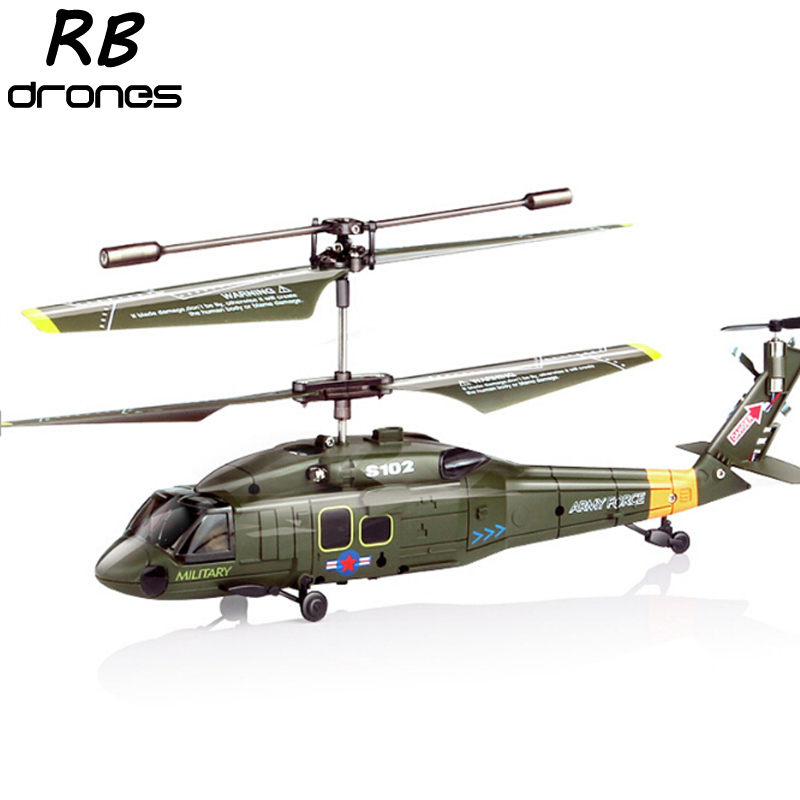 Free shipping Syma S102G RC Remote Control Micro Helicopter Black Hawk W/Gyro(China (Mainland))