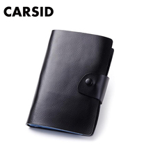 Best Men&Women's 120 Card places Genuine Leather Card Holder Big Capacity Bank Credit Name Business Cards Bag Book Gifts(China (Mainland))