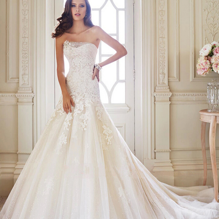 Brand designer qulaity bridal dresses off the shoulder for Designer brand wedding dresses