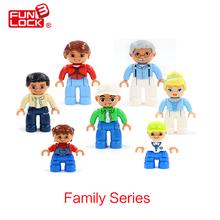 Funlock Duplo Фигура Блоки Моей Семьи, Отец, Мать, Брат Сестра Дедушка Бабушка Детские Игрушки