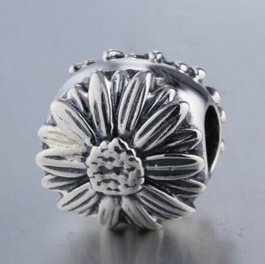 Sunflower beads high level 925 sterling silver diypandola style bead - RunHengYun Jewelry Factory store