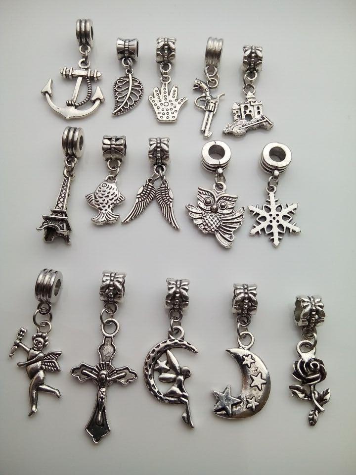 free shipping mix 15pcs/set 925 15 different angel wing plant pendants bead European Beads Fits pandora charm Bracelets pendants(China (Mainland))