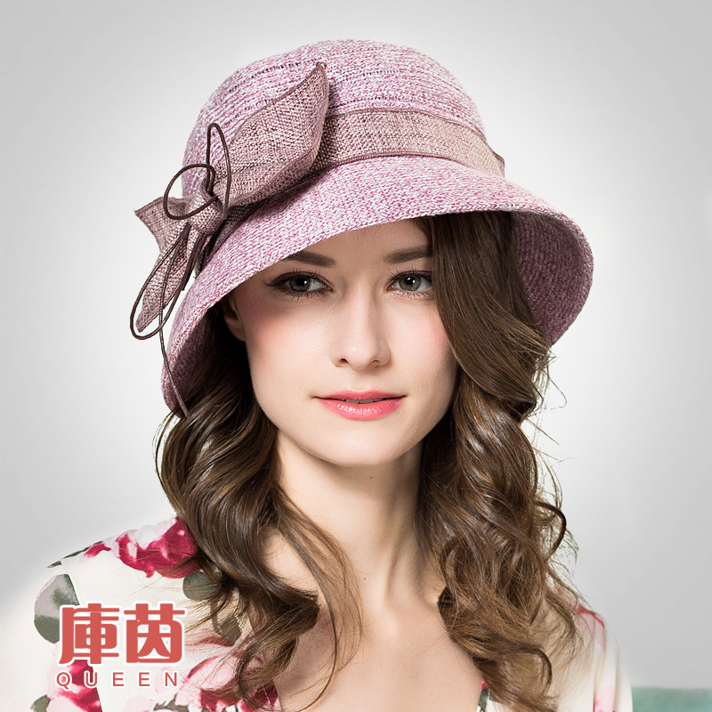 2016 New Spring Summer Sun Hat Elegant Butterfly Knot Knit Hand Hook Basin Cap Sun Cap Foldable Female Outside Hat B-3176(China (Mainland))