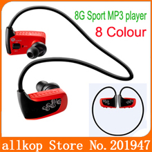 Young sports MP3 player W262 Wireless headset mp3 with 8GB memory IPX 2 Anti-sweat for Running cycling hiking Free shipping(China (Mainland))