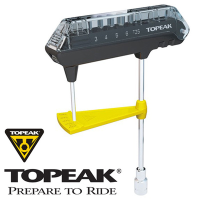 Topeak Combo Torq Wrench & Bit Set 3-12Nm + 3 / 4 / 5 / 6mm hex keys + T-25 Torx bke bicycle repair tools(China (Mainland))