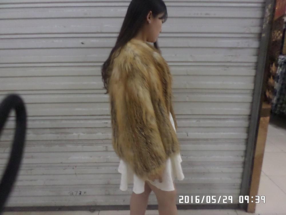 The real natural fox fur coat