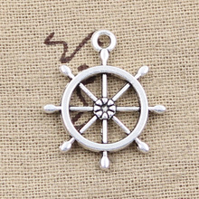 Buy 15pcs Charms rudder helm 27*23mm Antique pendant fit,Vintage Tibetan Silver,DIY bracelet necklace for $1.90 in AliExpress store