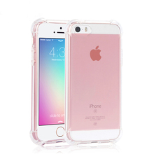 Case For iphone 5 5s SE 6 6S 6Plus Airbag Anti-knock Cases TPU Soft Shell Simple Fashion 2016 New Mobile Phone Accessories