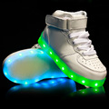 2016 New Led Shoes Kids White Casual USB Charging Children Shoes With Light Chaussure Led Enfant
