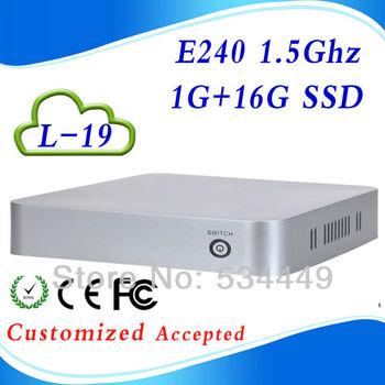 Video HDMI+VGA E240 L-19 1G RAM 16G SSD mini computer htpc case pc case support win 7 XP system