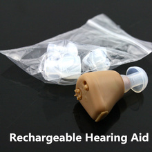 Buy MINI Rechargeable Hearing Aid Devices adjustable tone Sound Enhancement ITE Invisible Voice amplifier EU plug 110V-240V for $16.93 in AliExpress store