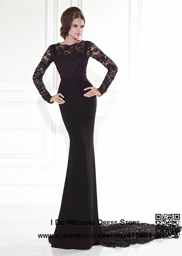 long sleeve black mermaid dress | Gommap Blog
