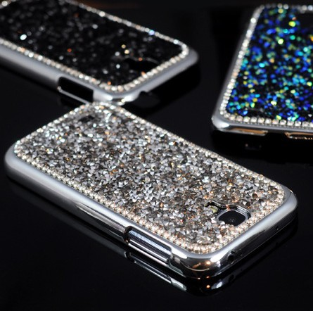For Galaxy S4 Luxury Bling 3D Rhinestone Diamond Glitter Hard Back Case Cover For Samsung Galaxy S4 mobile phone bag free ship(China (Mainland))