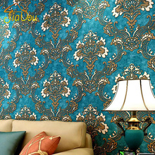 3D Non-woven Wallpaper Damask European Vintage Wallpaper Wall Covering Paper For Backdrop Textured Wall Papers Home Decor(China (Mainland))
