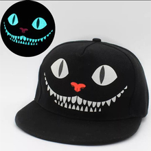 New Glow In The Dark Snapback Caps Adjustable Hip Hop Fluorescent Baseball Cap Casual Luminous Caps Fitted Hats for Women Men(China (Mainland))