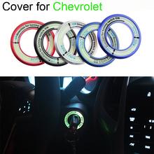 New car – styling Fashion Style Luminous Ignition Switch Cover for Chevrolet Cruze Aveo Captiva Trax Malibu Sail Orlando