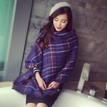 Lady Women Blanket Oversized Tartan Scarf Wrap Shawl Plaid Cozy Checked Warm Fashion Hot Selling