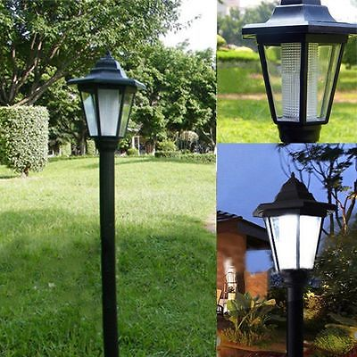 Solar Power LED Camping Hiking Path Way Wall Landscape Mount Garden Fence Lamp Light Outdoor CA