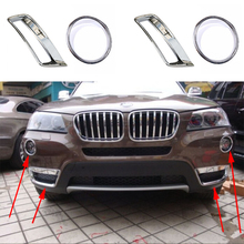 Buy 4PCS Chrome ABS Front Top Light + Bottom Fog Light Lamp Chrome Cover Trim BMW X3 F25 2011-2014 for $44.68 in AliExpress store