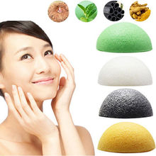 New 1 Pc Konjac Konnyaku Jelly Fiber Face Makeup Wash Pad Cleaning Sponge Puff Exfoliator#M01128