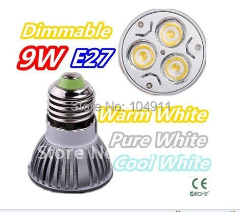 Wholesale 100pcs/lot E27 GU10 M16 9W CE High Power LED Lamp,AC85-265V,warm/cool white FREE SHIPPING(China (Mainland))