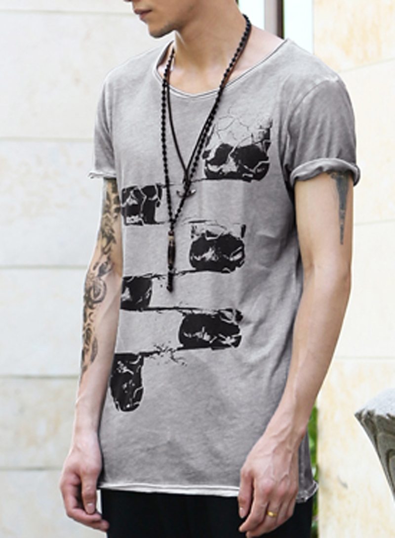 New All size new man t-shirt Saints style casual side Collar Mens Short sleeve Tee Famous Brand Fashion T shirt(China (Mainland))