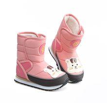 2019 Новинка для мальчиков; Теплая обувь для девочек зимние сапоги детские зимние ботинки из водонепроницаемого материала Толстая стелька дл...(China)