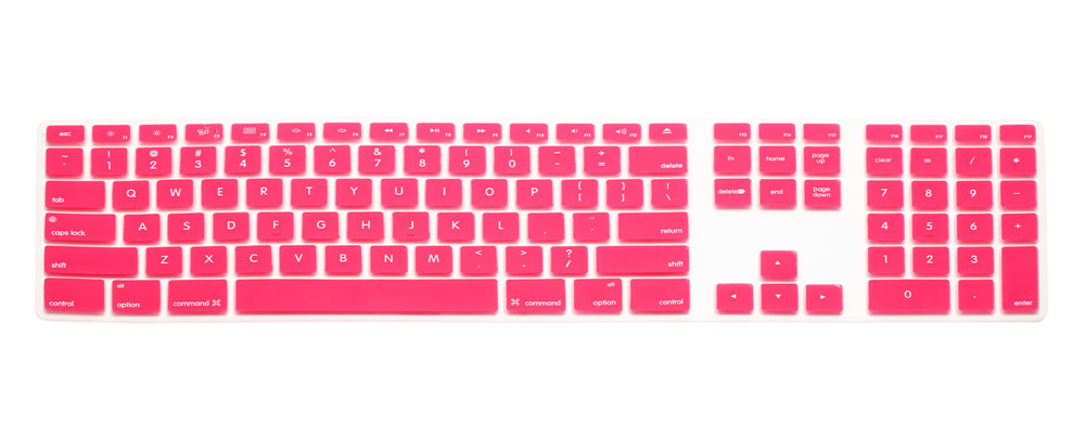 (50pcs) Computer Desktop Color Silicone keyboard Cover Skin Protector with a numeric keypad for Apple iMac G5/G6(China (Mainland))