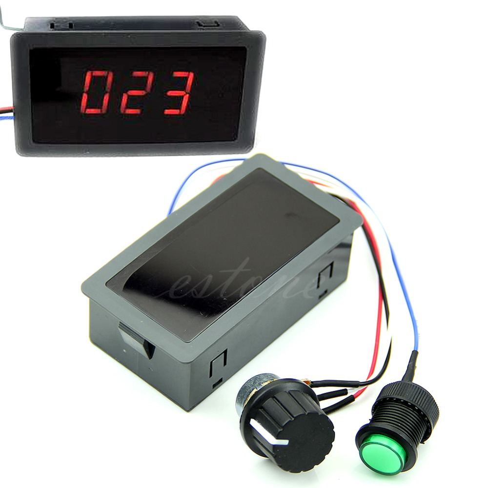 DC 6-30V 12V 24V Max 8A Motor PWM Speed Controller With Digital Display & Switch(China (Mainland))