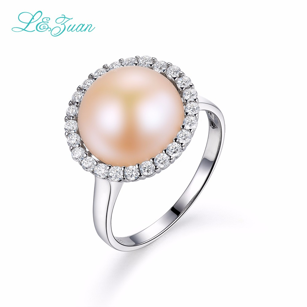 I&zuan 925 sterling silver White Cultured Freshwater Diameter 9~10mm Pearl Trendy Simple Ring Jewelry gift(China (Mainland))