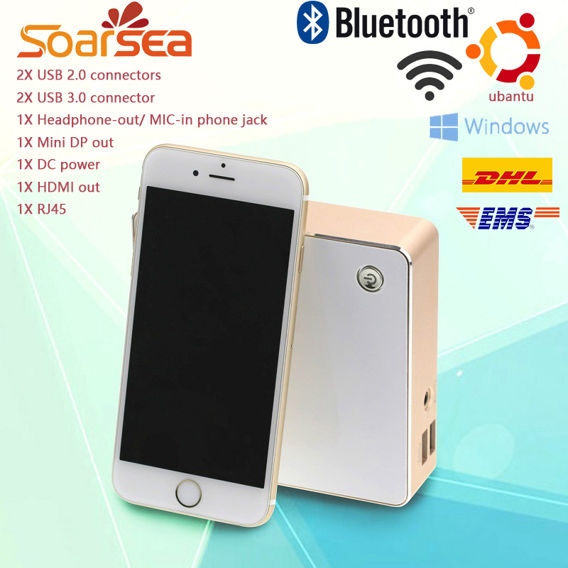 Soarsea Mini Computer Pocket PC Intel Core i3 4005U i3 4158U 8GB Ram 64GB SSD 4K HD HTPC HDMI+VGA Display Wifi Bluetooth(China (Mainland))
