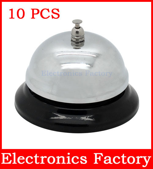 10PCS New CALL BELL Counter Hotel Kitchen Reception Restaurant Bar Desk Table Service ring Boardgame Ringer Tool Kit(China (Mainland))