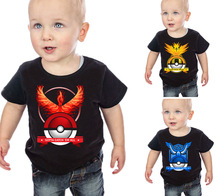 Pokemon Go Kids Baby Cartoon Children Clothing Kids T Shirts Boys Cotton Short sleeve T-shirts Toddler Tops Tees New 2016