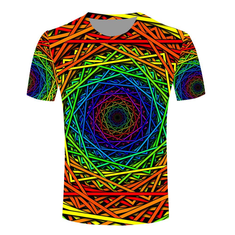 tie dye 3d t shirts men new fashion creative rainbow unique t shirts funny design slim fit tee. Black Bedroom Furniture Sets. Home Design Ideas