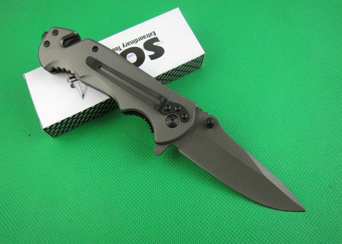 2014 HOT Selling OEM SOG FA05 Survival Folding Pocket Camping Knife 3Cr13 Blade Wood Handle Freeshipping