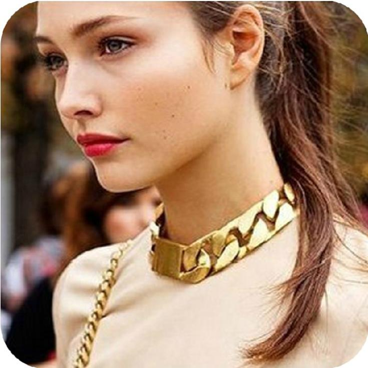 Fashion Gold Chain Necklace Bracelet Set Necklaces Pendants exaggerated statement necklace jewelry accessories new 2014 CX108