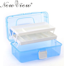 3 Layer Multi Utility Storage Case professional Nail Art box manicure kit nail tool Makeup box large size #60kj(China (Mainland))