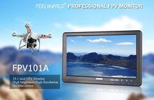 Free shipping!Feelworld FPV101A HD 10″ 1024X600 FPV Video Monitor Screen For Camera Drone DJI