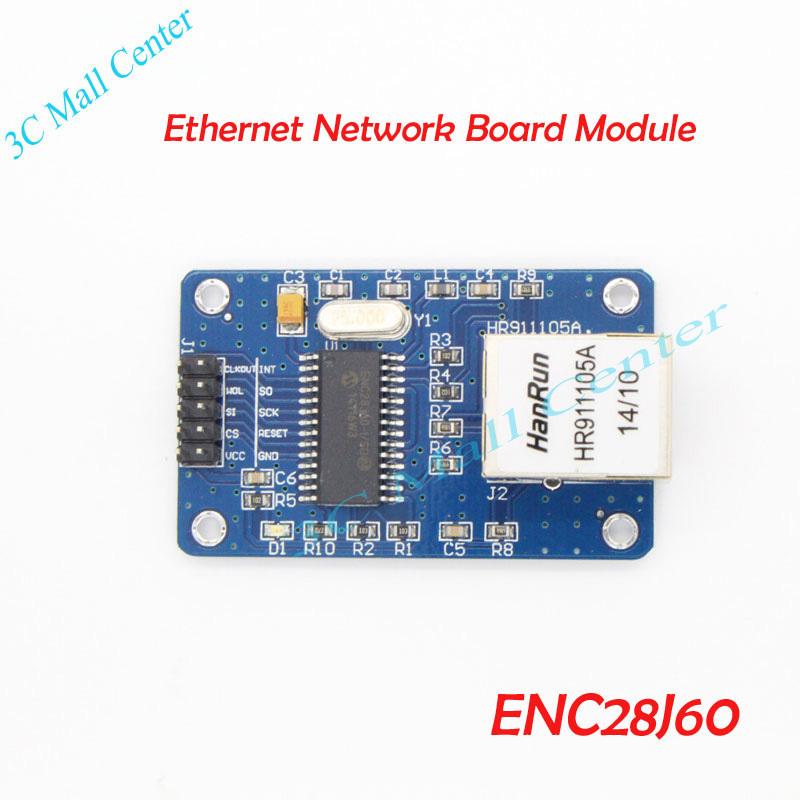 !!! ENC28J60 LAN Ethernet Network Board Module 25MHZ Crystal AVR 51 LPC STM32 3.3V(China (Mainland))