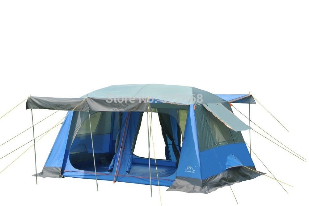 quality two bedroom 5 10person double layer waterproof camping tent