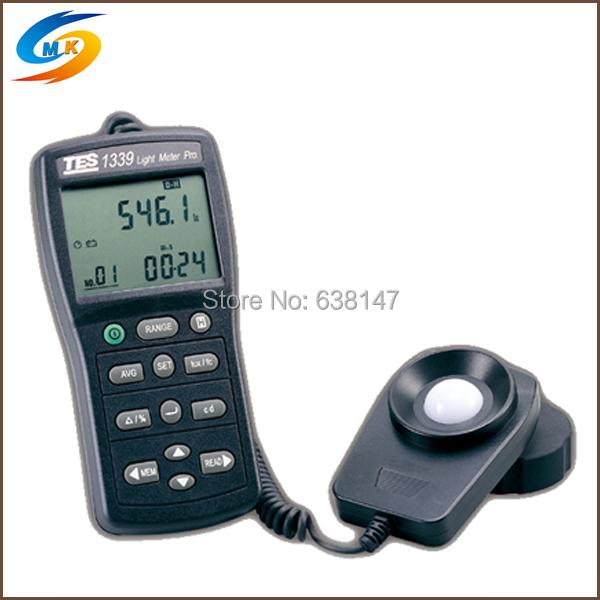 Handheld Data Hold Function Luminous Intensity Measurement Light Meter Digital Lux Meter Tester TES-1339(China (Mainland))