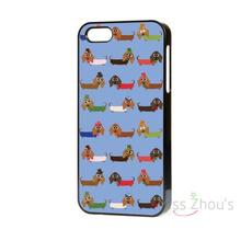 For iphone 4/4s 5/5s 5c SE 6/6s 7 plus ipod touch 4/5/6 back cellphone cases cover NEW DESIGN SUPER CUTE SAUSAGE DOG DACHSHUND