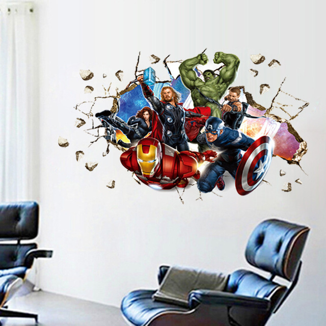 Buy movie 3d wall stickers home decor the for Stickers 3d pared